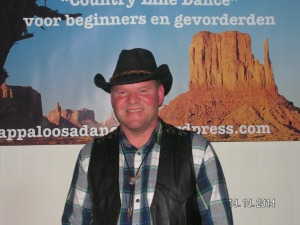 Ik ben Huib Dans instructeur Appaloosa Country Dancers