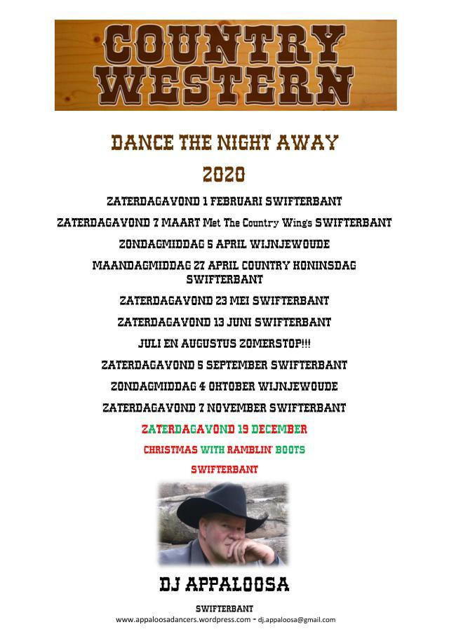 Overzicht DANCE THE NIGHT AWAY en DANCE AND HAVE FUN 2020